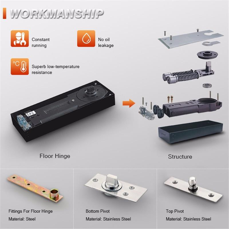 RONGYAO-High Quality Heavy Duty Adjust Hydraulic Floor Hingedoor Closerfloor-7