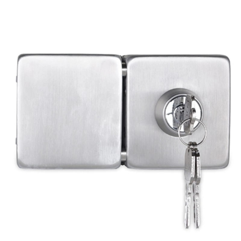 Square shape double side glass door lock RY-01