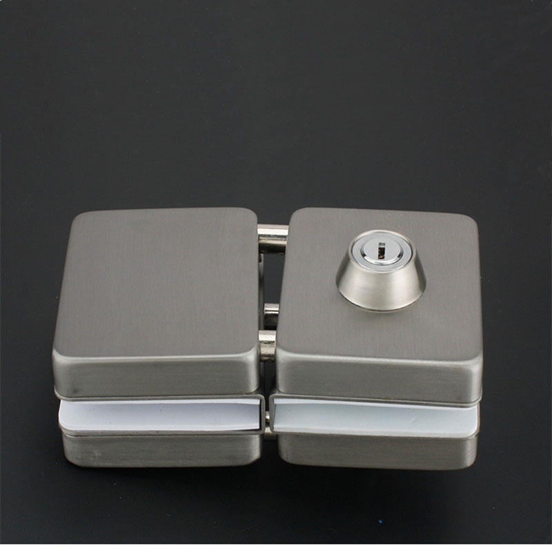 High quality tempered glass center lock commercial glass door lock RY-03