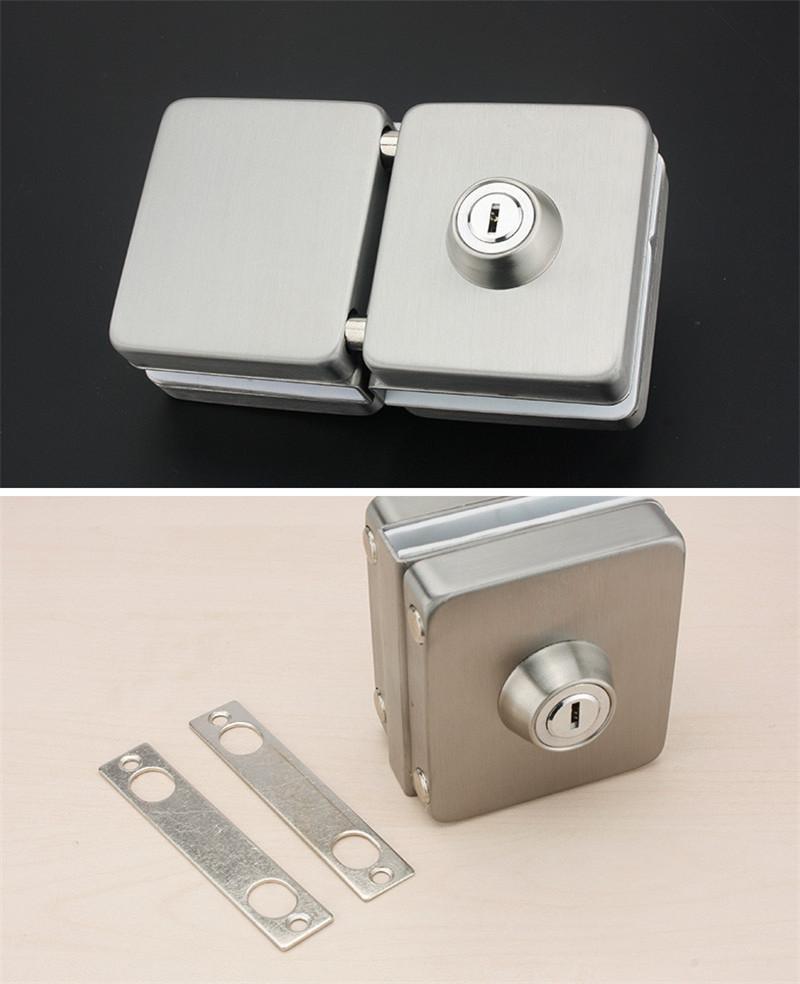 RONGYAO-Glass Door Locks No Drilling | High Quality Tempered Door Locks-2