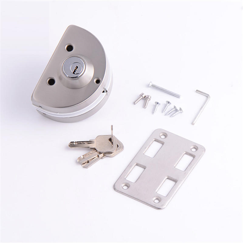Strong function semi circle double size Zinc alloy Lock for glass door RY-06