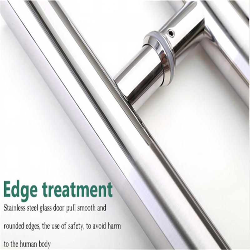 RONGYAO-6068 H Handle Stainless Steel Glass Door Wooden Door Handle-12