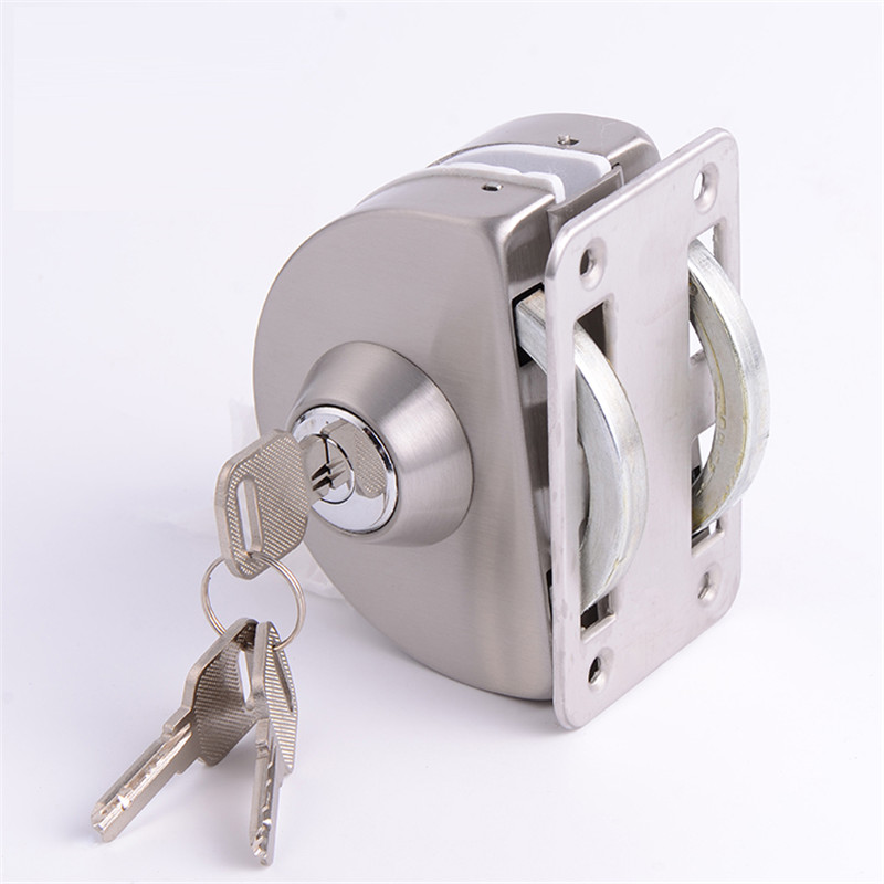 RONGYAO-Find Glass Door Locks No Drilling Strong Semi Circle Double Lock