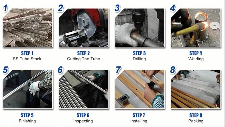 RONGYAO-Professional Adjustable Glass Door Handles Stainless Steel-14