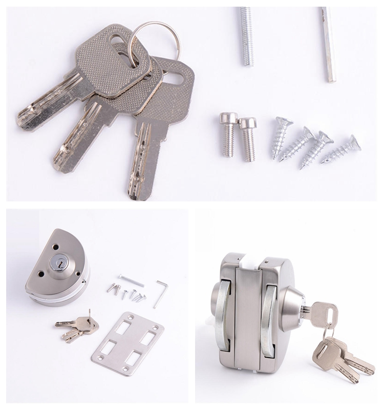 RONGYAO-Find Glass Door Locks No Drilling Strong Semi Circle Double Lock-1