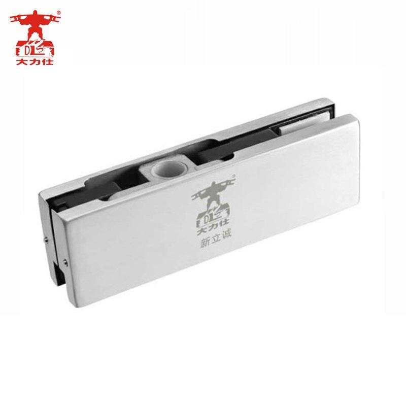 High quality stainless steel aluminium bottom and top glass door patch fitting D-332